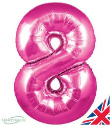 Number 8 Pink Balloon (30 Inches)