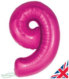 Number 9 Pink Balloon (30 Inches)