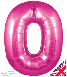 Number 0 Pink Balloon (30 Inches)