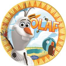 OLAF Summer 23CM Plates (Pack of 8)