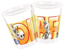OLAF Summer Plastic Cup 200ML (Pack of 8)