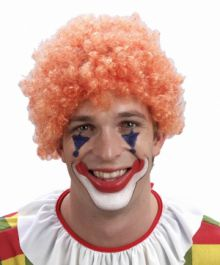 Orange Clown/Afro Wig