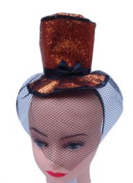 Orange Fascinator Hat with Alice Band