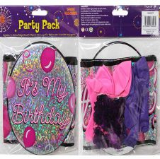 Badge Balloon and Banner Party Pack Female