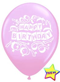 Pink Birthday Balloons (Pack of 16)