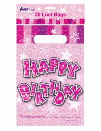 Pink Birthday Glam Loot Bags (Pack of 20)