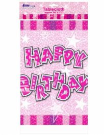 Pink Birthday Glam Table Cover