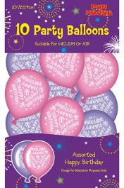 Pink Birthday Party Balloons (Pack of 10)