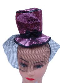 Pink Fascinator Hat with Alice Band