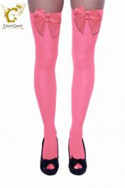 Pink Stockings with Dark Pink Bow
