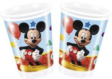 Playful Mickey Plastic Cups (Pack of 8)