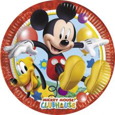 Playful Mickey Plates (Pack of 8)