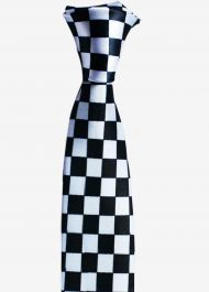 Police Checkered Neck tie