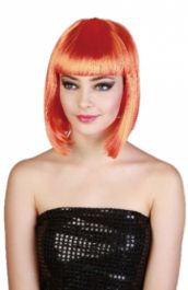 Pop Star Orange Wig