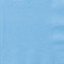 Powder Blue Lunch Napkins (Pack of 20)