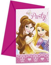 Princess Glam Invites & Envelop (Pack of 6)