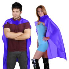 Wicked Fun Purple Deluxe Satin Cape