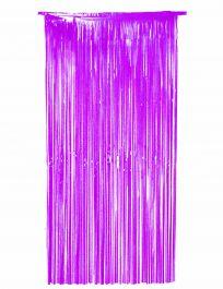 Purple Foil Door Curtain