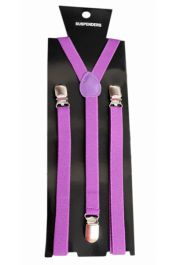 Purple Plain Braces 1.5 cm