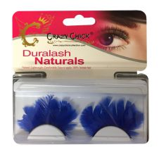 Re-useable Feather Blue Eyelashes