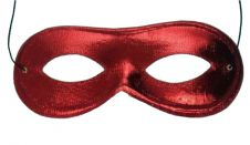 Red Domino Shape Cloth Eye Mask