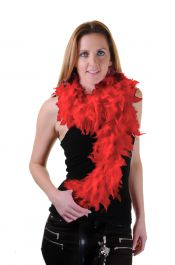 Red Feather Boa High Quality