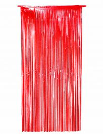 Red Foil Door Curtain