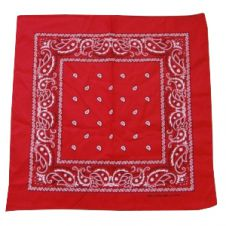 Red Paisley Bandana ( 1 Dozen)