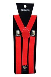 Red Plain Braces (2.5 cm)