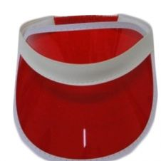 Red Poker Visor Hat (12 Pcs)