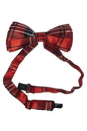 Red Tartan Bow Tie (Loose)