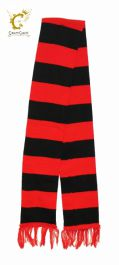 Red & Black Striped Scarf