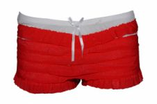 Red White Ruffle Knickers