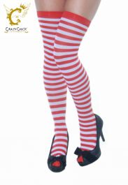 Red/White Stripe Stockings