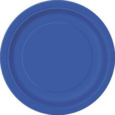 Royal Blue 9 Inches Plain Plates (Pack of 16)