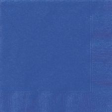 Royal Blue Plain Lunch Napkins (Pack of 20)