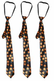 Satin Dotted Tie Orange