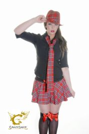 School Girl Shirt Black