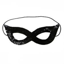 Sequin Black Face Masks
