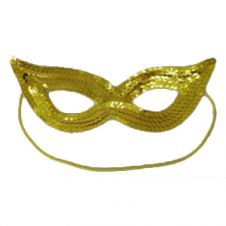 Sequin Gold Face Masks