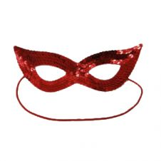 Sequin Red Face Masks