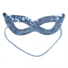 Sequin Silver Face Masks