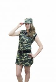 Sexy Camouflage Girl Costume