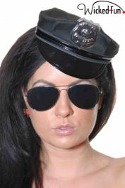 Sexy Black Mini Police Hat