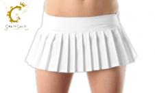 Sexy Plain White Mini Pleated Skirt