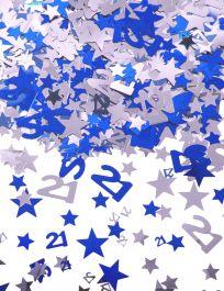 Silver Blue Star Confetti (Aged 21)