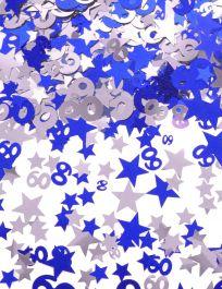 Silver Blue Star Confetti (Aged 60)
