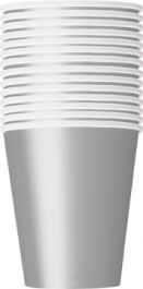 Silver Plain Cups 9 Oz (Pack of 14)