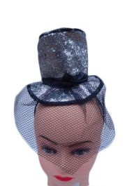 Silver Fascinator Hat with Alice Band