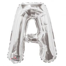 Silver Letter Balloon - A - (14inch)
